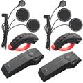 2 pcs FreedConn 1000m Motorcycle Helmet Bluetooth Intercom Moto Headset NFC FM+Remote Controller+Soft Earphone