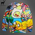 Aelfric Eden Hot Adventure Time Cartoon 3D Printed Hoodie Sweatshirt Finn and Jack Pulloverwear Mens Fasion Hip-hop Hoodies