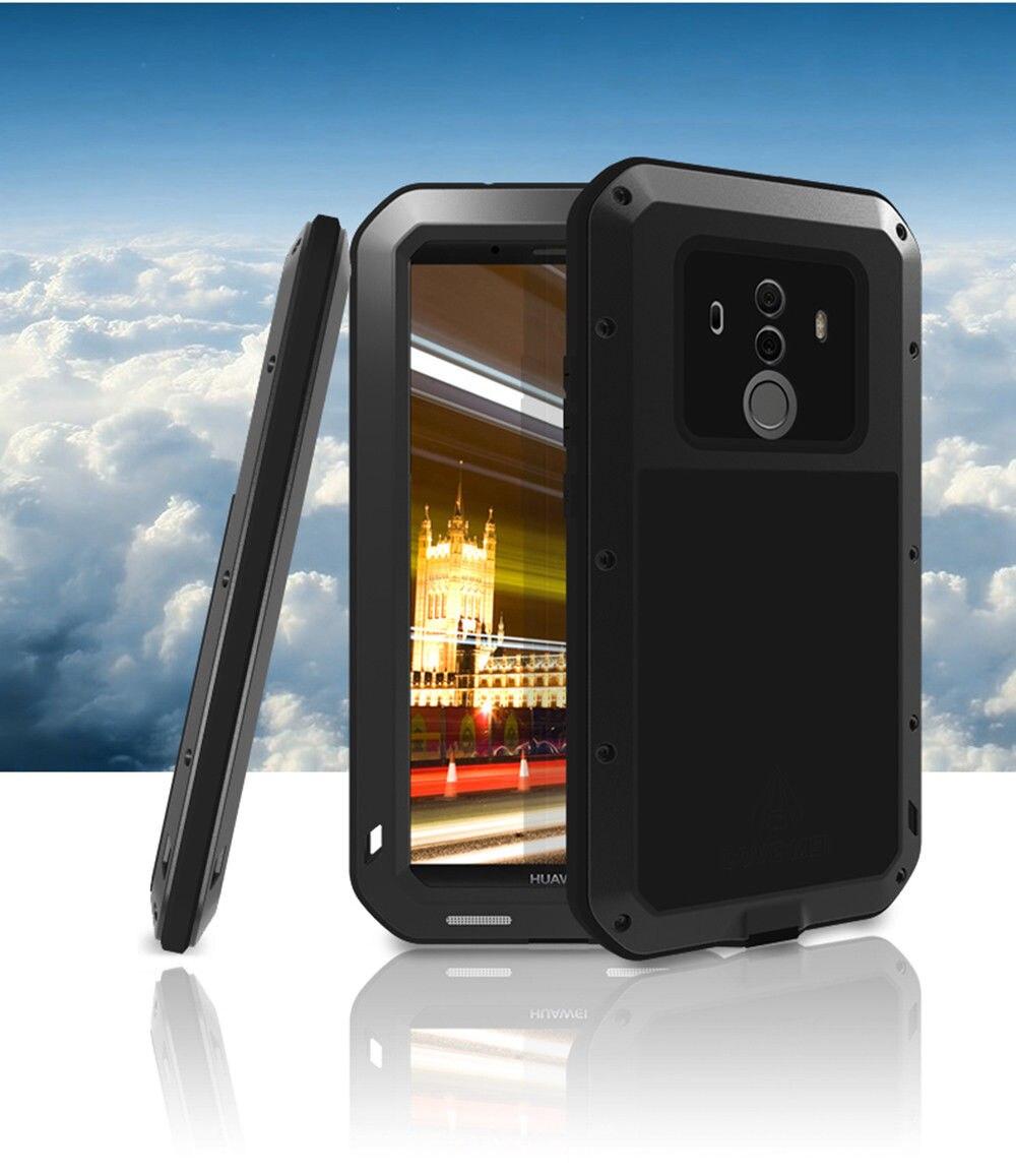 Housse de protection étanche anti-chute de neige en métal pour Huawei Mate 10 Pro/pour Mate 10 PORSCHE DESIGN