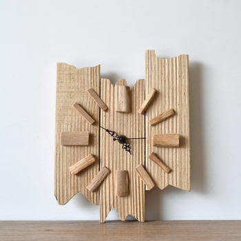 Creative rough wood retro wall clock Brief pastoral handmade wood wall clock Original Art clocks