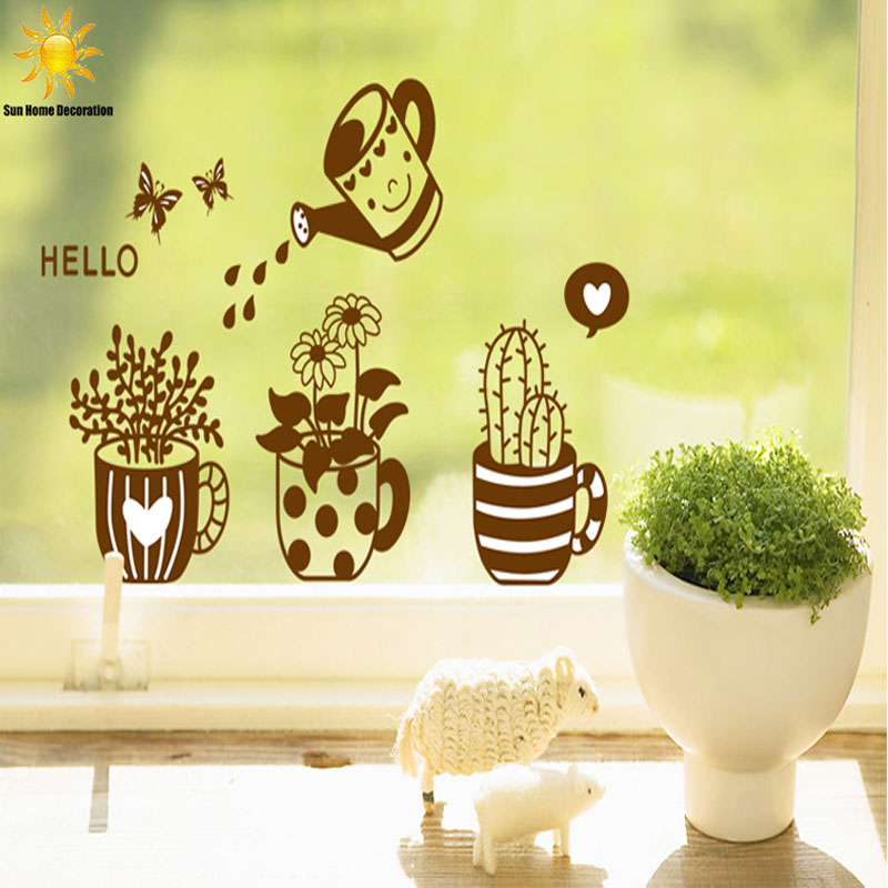 Free shipping DIY Fashion Cute Removable Flower Home Decoration mirror wall stickers Glass Sticker Wall Stickers 82CM*50CM
