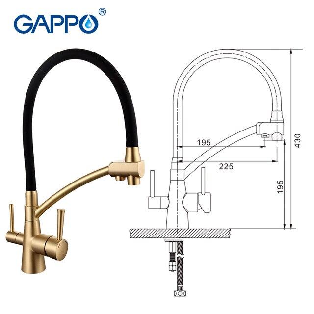 Online Shop GAPPO filtro acqua rubinetti da cucina rubinetto ...