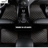 Universal car floor mat for vw polo accessories vw passat b5 b6 golf touran tiguan jetta car accessories Car styling car mats