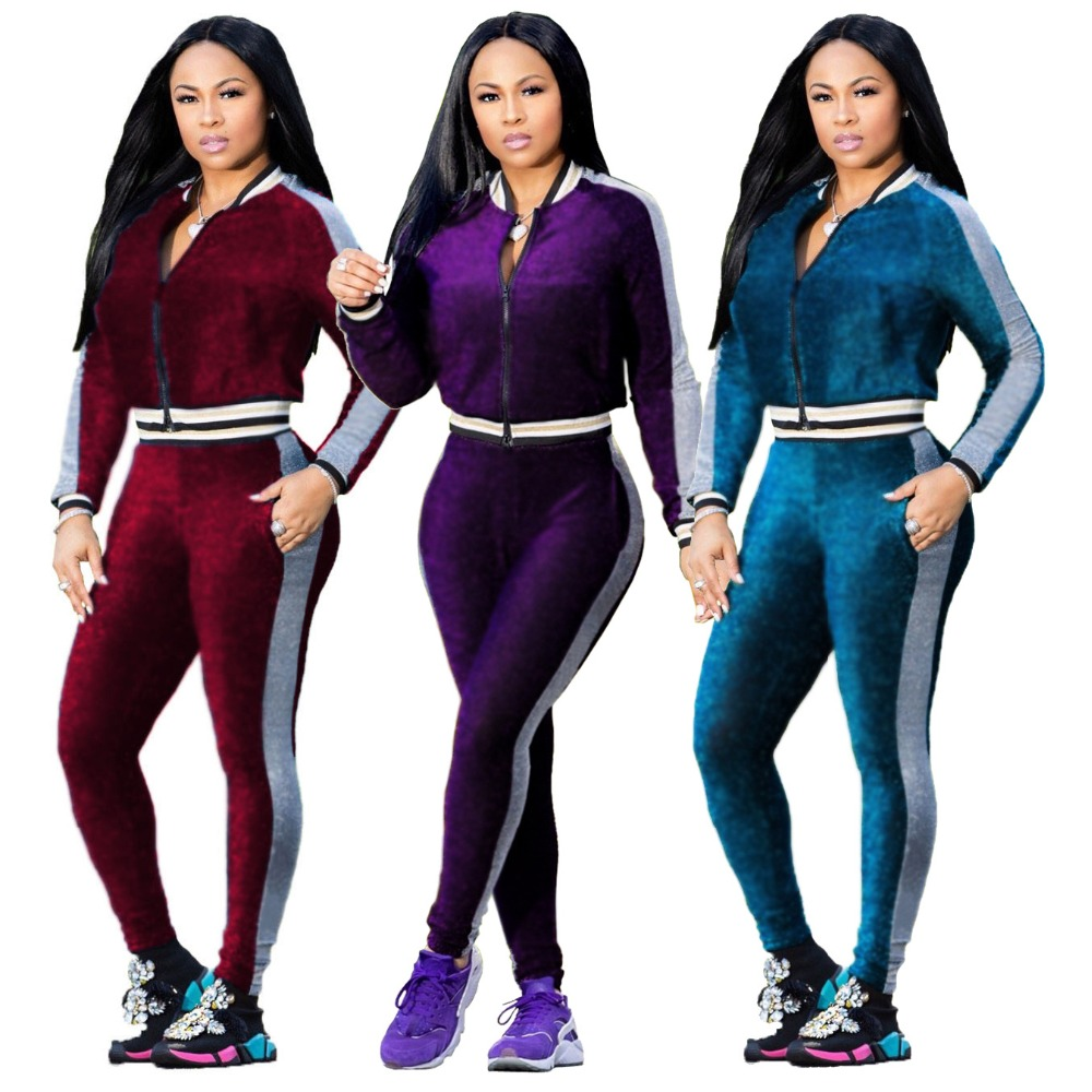 Two Piece Set Tracksuit for Women Elegant Top and Pants Set Womens Casual Sweat Suits Fitness Autumn Plus Size S 2XL Outfits