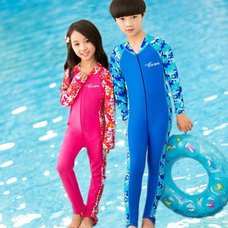 Boy wearing girls swimsuit?