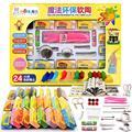 24 цвета 720 г полимерная печь Выпекать цветные глины набор с инструментами моделирования глины развивающие игрушки дети выпечки полимерный ...