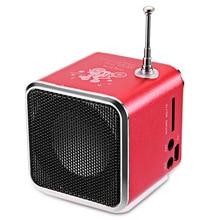 Mini portátil Recargable LED Música Estéreo Multimedia RadioTF Tarjeta de Música jugador td-v26 fm radio usb sd micro para pc portátil equipo