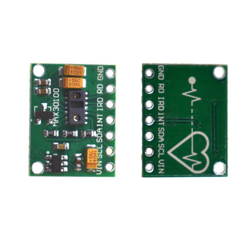 WAVGAT MAX30100 Heart Rate Oximetry Sensor Module Heart Rate Sensor Breakout Ultra-Low Power Consumption For Arduino
