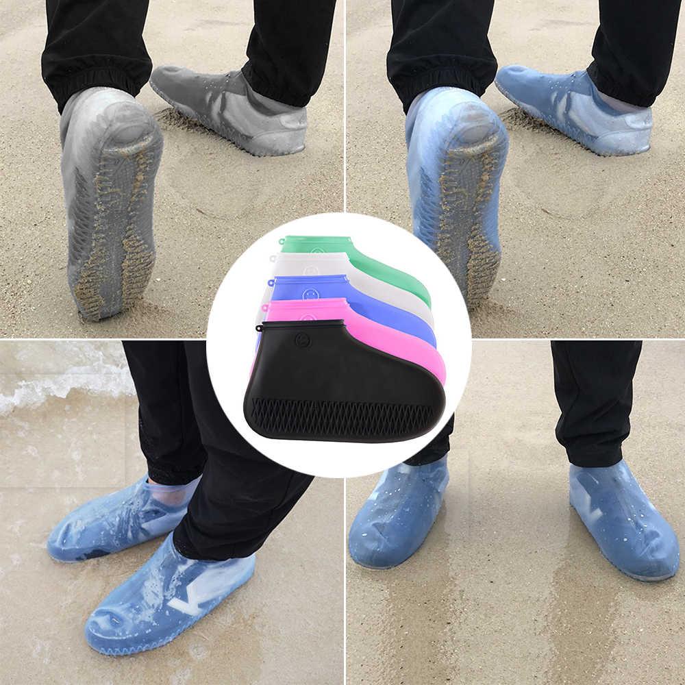 Yeni Kullanımlık kaymaz yağmur ayakkabıları Kapakları Su Geçirmez Silikon Ayakkabı Kapak Kamp Açık S/M/L Ayakkabı Aksesuarları