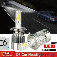 2Pcs/lot H4 LED H7 H11 H1 9004 9005 9006 9007 HB1 HB2 HB3 HB4 HB5 H3 H13 880 Car Headlight Bulbs 72W 7600LM 6000K Auto lamp