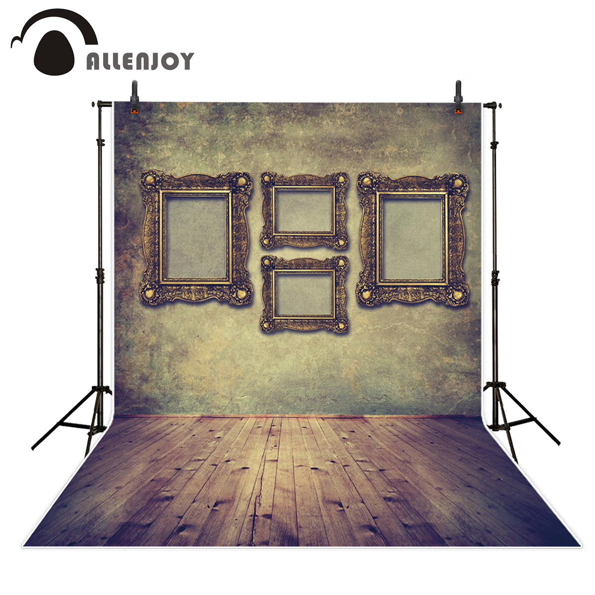 Allenjoy photography backdrop vintage luxury elegant frame wood floor background photocall printed professional new