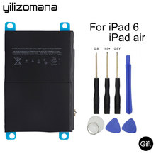 YILIZOMANA For iPad Air 2 battery 7340mAh Li-ion Internal Original Replacement Battery  for ipad 6 Air 2  A1566 A1567 with Tools yilizomana for ipad air 2 battery 7340mah li ion internal original replacement battery for ipad 6 air 2 a1566 a1567 with tools