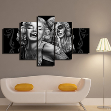 5 Panels /Set Canvas Prints Marilyn Monroe Sexy Portrait Painting Art Home Decor Wall Pictures No Frame