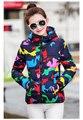 O novo casaco de inverno mulheres oferta especial fêmea espessa seção casaco grosso tamanho asiático projeto camouflage jaqueta meninas