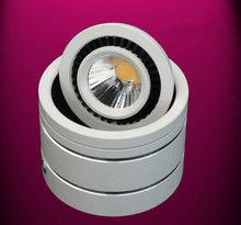 DHL Free Shipping Surface Mounted LED Downlight With COB 7W/10W angle adjusted  LED  Down lights, Body Color: White/ Black