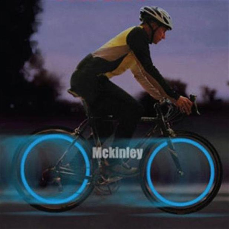 Super LED Bike Lights Spoke Wire Tire Tyre Wheel Bicycle LED Multicolor Bright Lamp shockproof Cycling Accessories #4S09  (19)