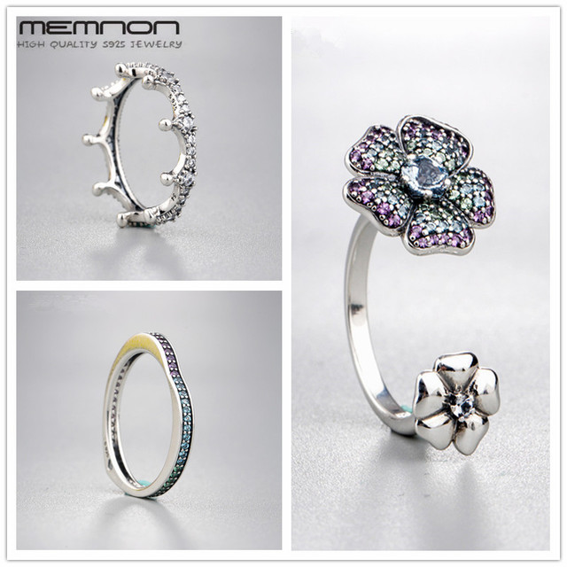 Memnon Glorius Blooms Enchanted Crown Multi-colour Arc of Love Rings for women 9