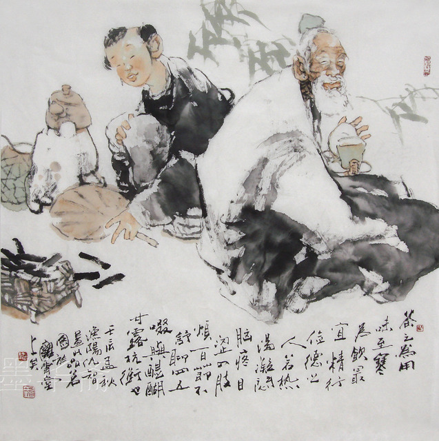 Original Traditional Chinese Painting Asian Ink Brush Art Famous Artist Living Room Decoration Hand Painted Figure