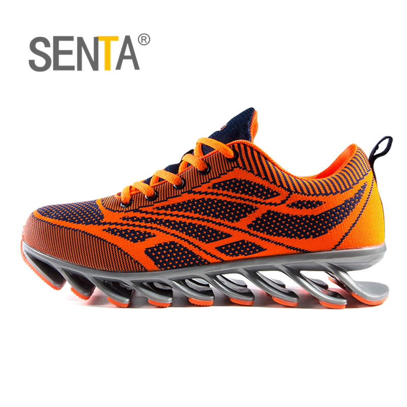 SENTA Brand Profession Men Running Shoes Damping Blade Shoes Fast Run Sport Shoes Athletic Cushioning Athletic