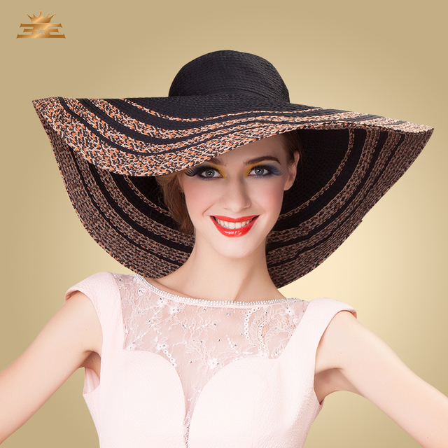 11a032cc4 Lady Summer Sun Hat Women Outside Travel Straw Hat Female Wide Brim Cap  Girls Sea Sunscreen Cap B 4858-in Sun Hats from Women's Clothing &  Accessories