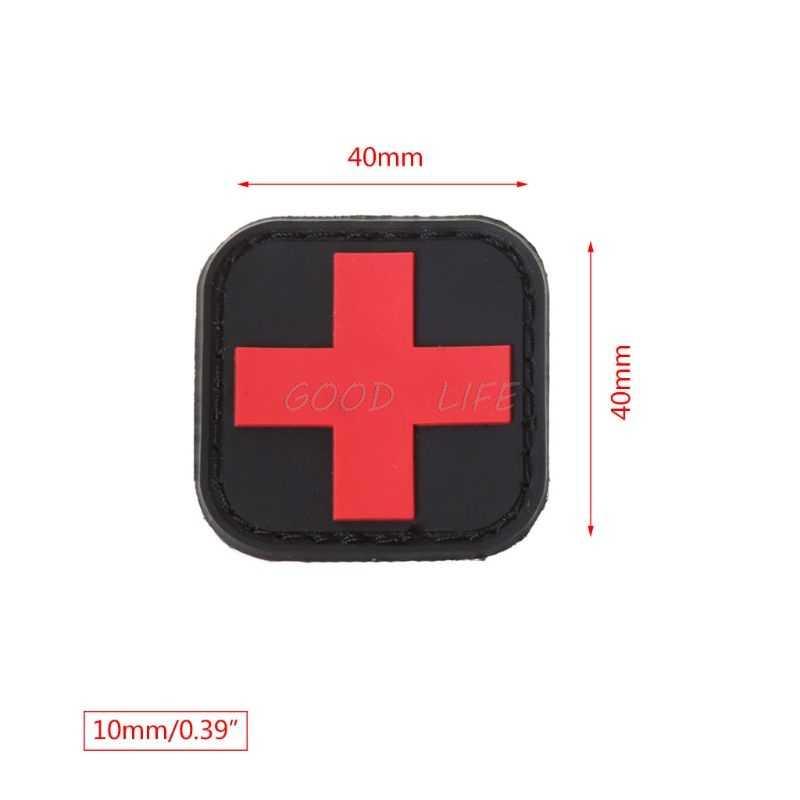 Тактическая повязка на руку первой помощи для охоты на открытом воздухе медицинский персонал значок Brassard Красный Крест Волшебная Наклейка ПВХ патч боевой дух аксессуары