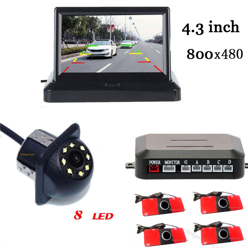 Aide au stationnement de voiture 3in1 HD 4.3