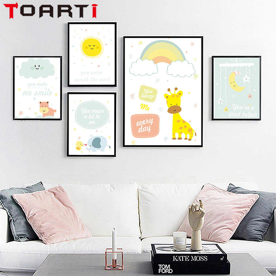 Modern Cartoon Typography Adventure Quotes Art Printable Canvas Painting Poster Wall Picture Kids Room Home Decor No Frame