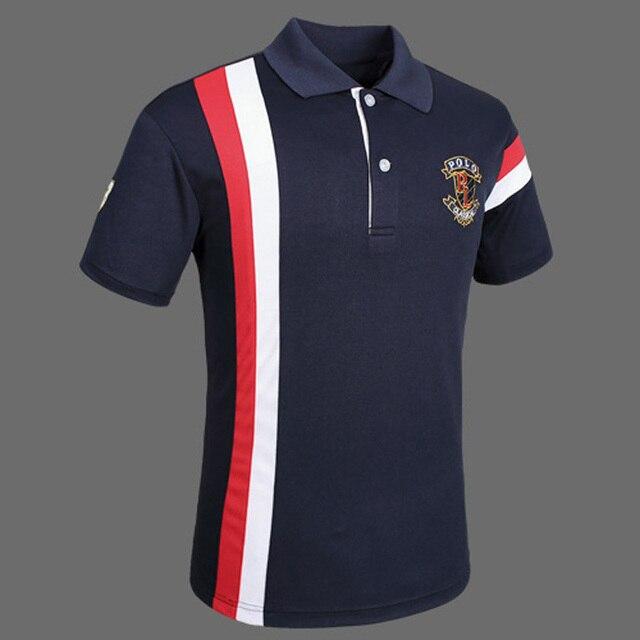 d9c3e00cab785 Estilo rápido seco verano estilo de trabajo camisa malla transpirable  forrado manga corta sólido Polo hombres