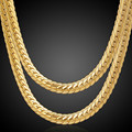 Gold Plated Chain necklace Men Jewelry Gift Wholesale Colors Trendy 6MM Wide Chain & Link necklace