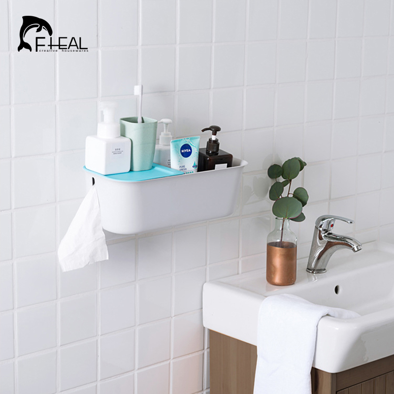 Fheal 1pc Multifunction Bathroom Storage Rack Large Capacity
