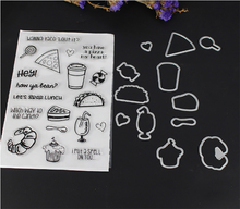 AZSG delicious food Clear Stamps/seal for DIY Scrapbooking/Card Making/Photo Album Decoration Supplies