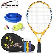 Junior теннисные ракетки из углеродного волокна, тренировочная Теннисная ракетка, оснащенная теннисными ракетами для детей и подростков, Детские теннисные ракетки