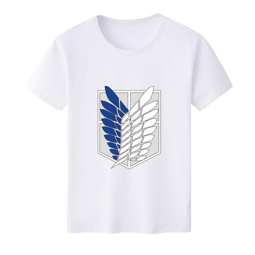 2019 New Arrival T Shirt Men for Anime Attack on Titan Shingeki no Kyojin O-Neck Printed T-shirts Short Sleeve Tee Shirts