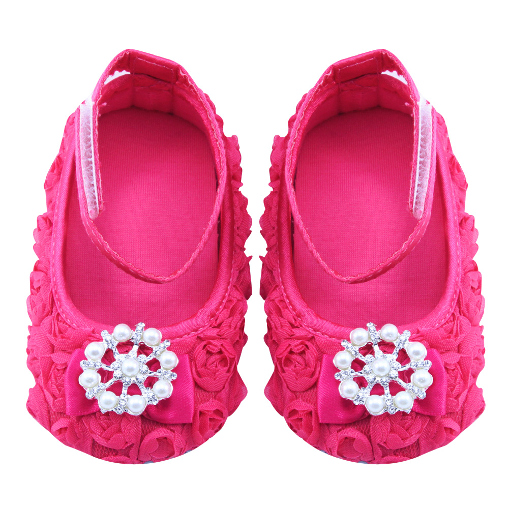 Baby Girls Shoes Infant Canvas Floral Shoes Anti slip Soft Sole First Walkers Girls Casual