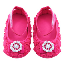 Baby Girls Shoes Infant Canvas Floral Shoes Anti-slip Soft Sole First Walkers Girls Casual
