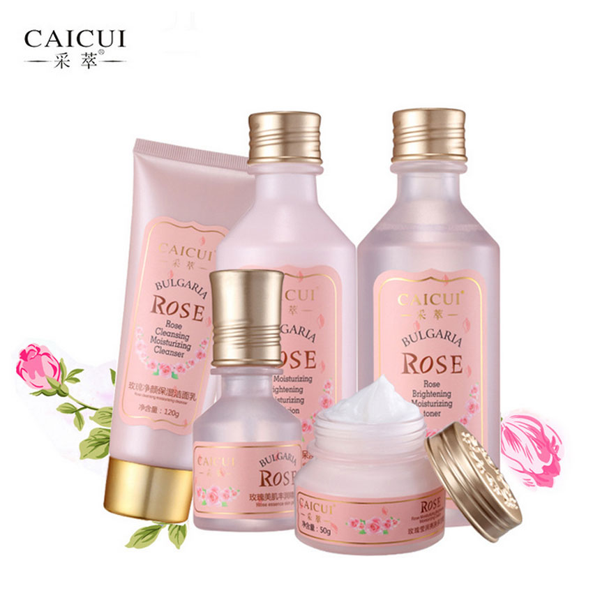 Beauty makeup set women Caicui Rose Moisturizer Skin Care suit set Skin bright smooth Whitening Anti wrinkle SoftCare Girls Set