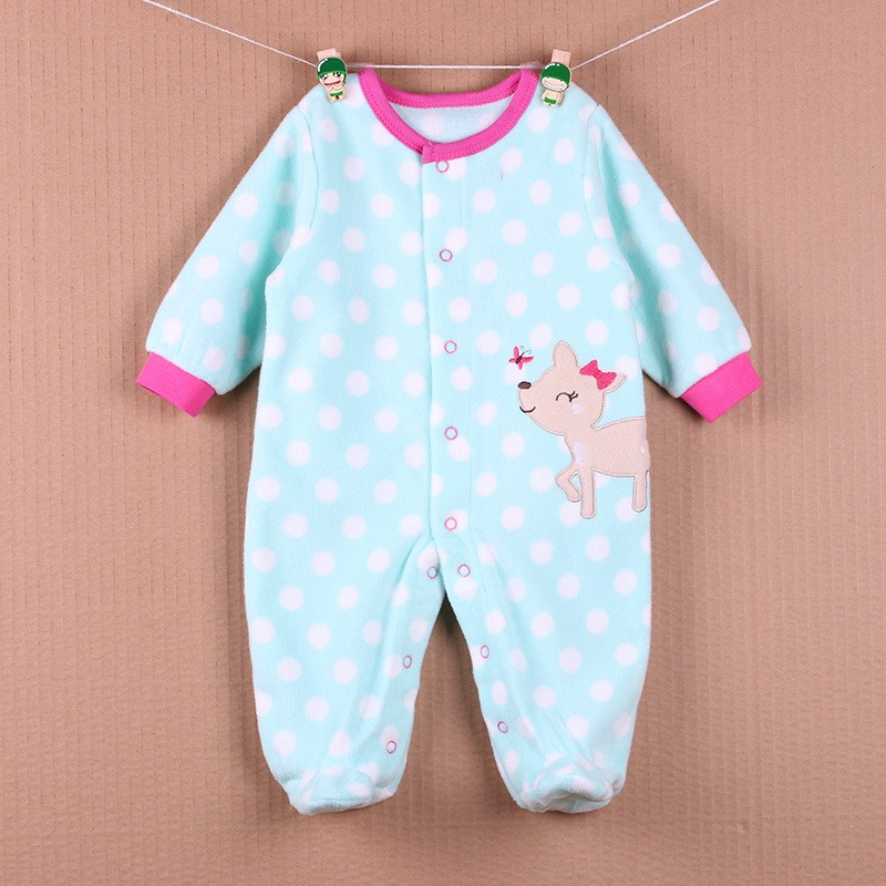 New Arrival Baby Footies Boys&Girls Jumpsuits Spring Autumn Clothes Warm Cotton Baby Footies Fleece Baby Clothing Free Shipping (14)