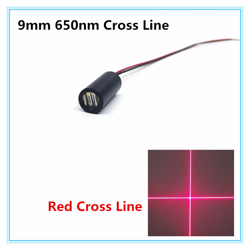 9mm 650nm 5mW 10mW Red Cross Line Laser Module Industrial Grade APC Driver TYLASERS