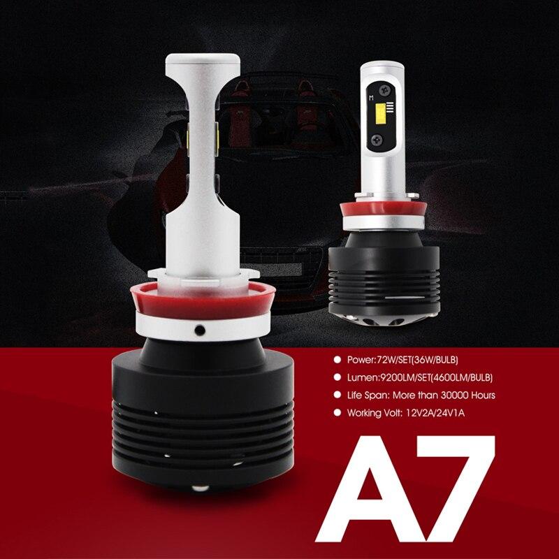 SUNKIA H8 H11 Mobil LED Headlight Konversi Kit All-in-one Lampu - Lampu mobil - Foto 3