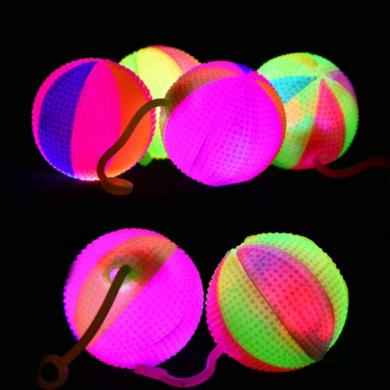 2018 Light Up Stress Balls Bounce Balls LED Flashing Baby Sounding Toys Kids Favor Gift Glow Party Christmas Navidad New Year
