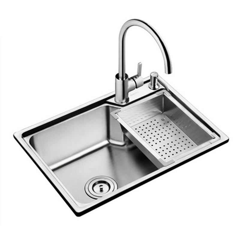 304 évier en acier inoxydable avec un seul réservoir bassins épaississement piscine bassin canal intégré paquet unique bol cuisine évier