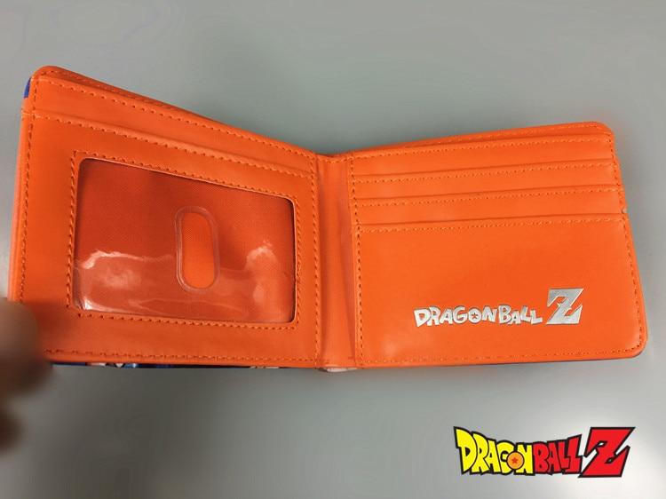 Dragon Ball Z Wallets Son Goku Super Saiyan Card Holder Short Color Purse