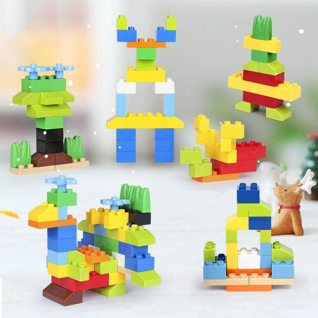 52PCS DIY Large Particles Baby Assembling Toys Building Blocks Big Size Creative Brick Birthday Gift Educational Toys Child E