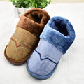 2016 New Cotton Slippers Indoor Warm Men Plush With Cotton Padded Shoes Fashion Tickened Slip Free Shipping