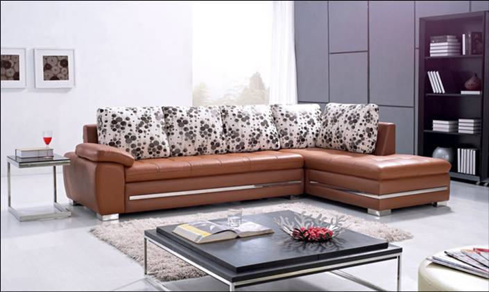 Free Shipping Hot Sale! Modern Design Sofa, made with Top Grain Leather L Shaped Corner Sectional Sofa L8030