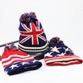 Winter Hat Women 2016 USA American Flag Beanie winter warm knitted caps hats for men Skullies Beanies gorros femme bonnet