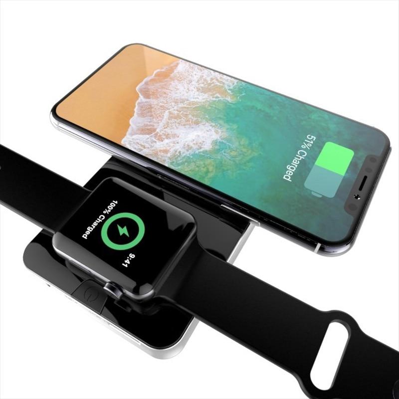 Chargeur sans fil pour iPhone X 8 Plus apple watch Samsung S8 Plus chargeur sans fil Portable batterie intégrée
