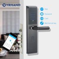 Электронный дверной замок, приложение WIFI смарт сенсорный экран блокировки, цифровой код клавиатуры Deadbolt для дома отеля квартиры