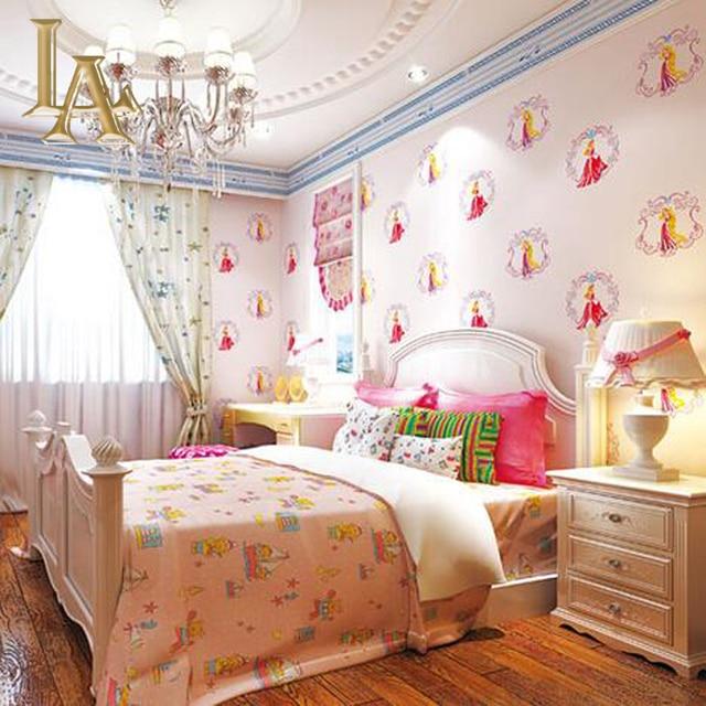 Cartoon Fairy Princess Children Wallpaper For Kids Room Papel De Parede  Girls Bedroom Study Decorative Wall