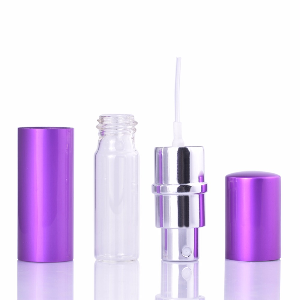 MUB - İsti Satış! 10 ml Alüminium Mini Parfümer Atomizer - Dəriyə qulluq alətləri - Fotoqrafiya 5